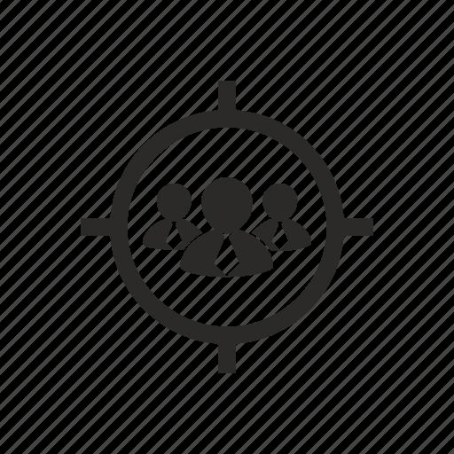 audience, target, targeting icon