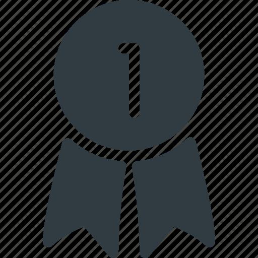 awward, badge, first, reward, win icon