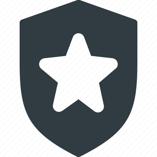 awward, favorite, reward, shield, star icon