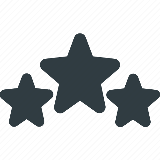 awward, rating, reward, star, stars, three icon