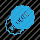 awward, badge, reward, sticker, vote, voted