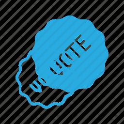awward, badge, reward, sticker, vote, voted icon