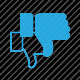 awward, dislike, down, finger, gesture, reward icon