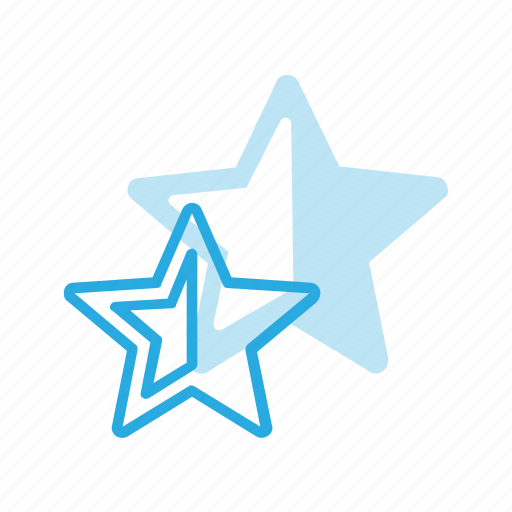 awward, half, rate, rating, reward, star icon