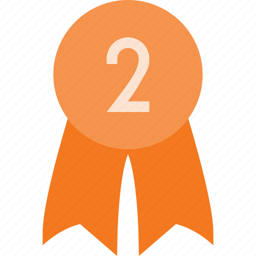 award, badge, place, reward, second icon