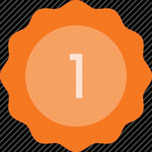 award, badge, first, place, reward, sticker icon