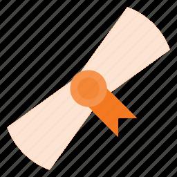 award, certificate, certify, document, reward icon
