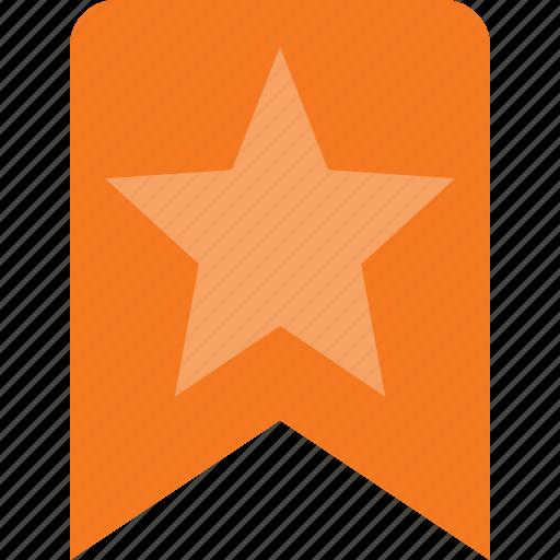 award, badge, bookmark, favorit, reward, star icon