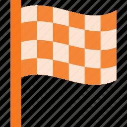award, first, flag, race, reward, win icon