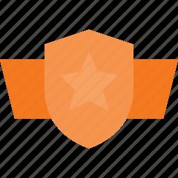 award, cerificate, reward, shield, win, wing icon