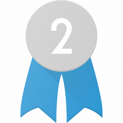 Award, badge, place, reward, second icon - Download on Iconfinder