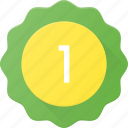 award, badge, first, place, reward, sticker icon