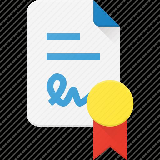 Award, certificate, certify, document, reward icon - Download on Iconfinder