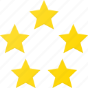 award, five, rating, reward, star, stars icon
