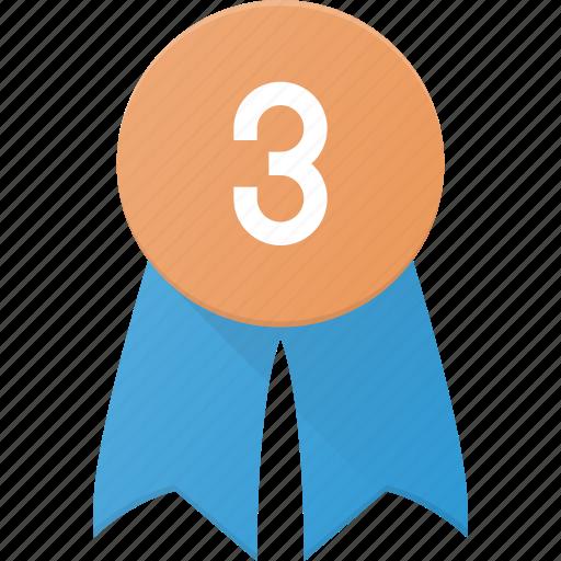 Award, badge, reward, third icon - Download on Iconfinder
