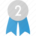 award, badge, place, reward, second