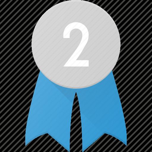 Award, badge, place, reward, second icon - Download on Iconfinder