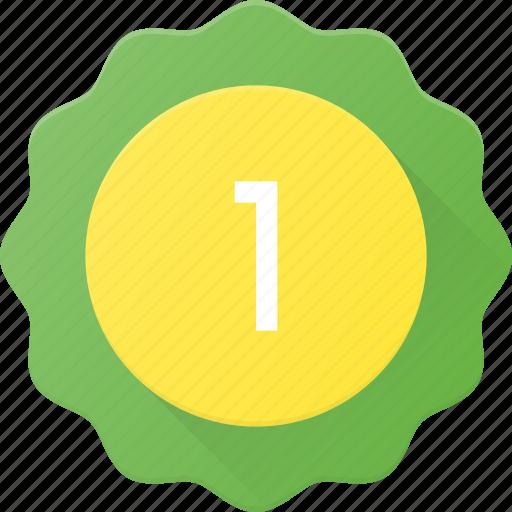 Award, badge, first, place, reward, sticker icon - Download on Iconfinder