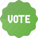 award, badge, reward, sticker, vote, voted