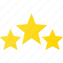 award, rating, reward, star, stars, three