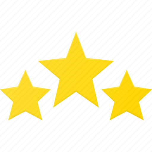 award, rating, reward, star, stars, three icon