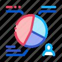 distribution, election, statistics, vote, voting icon