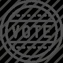 ballot, debate, election, presidential, sticker, vote, voting