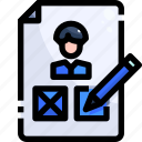 ballot, democracy, elections, politics, voting icon