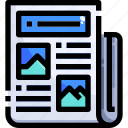 communications, journal, news, newspaper, report icon