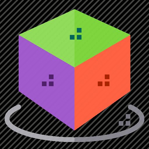 cube, model icon