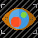 digital, eye, real, technology, view, virtual, vision icon