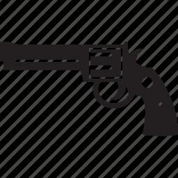 gun, kill, revolver, shoot, war, weapon icon
