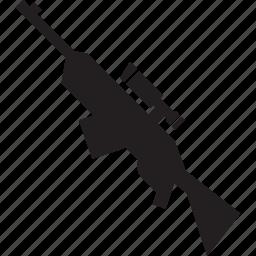 attack, military, rigle, sniper, war, weapon icon