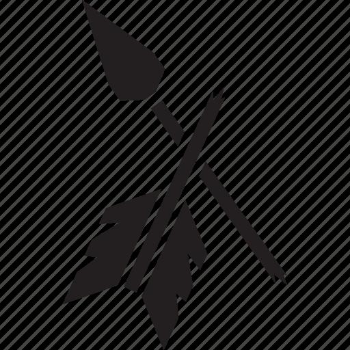 archery, arrow, bow, broken, war, weapon icon