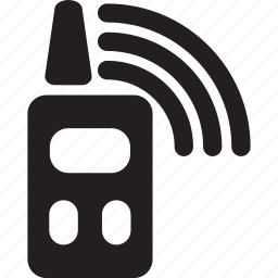 connecton, military, radio, talkie, walkie, war icon