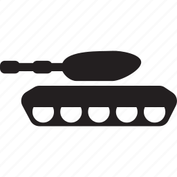 gun, machine, military, shoot, tank, war icon