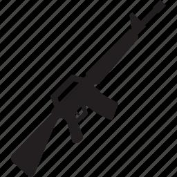 automatic, gun, m16, mashine, military, war, weapon icon