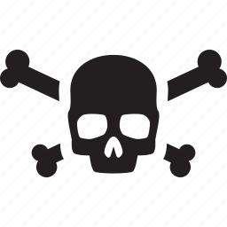 dangerous, pirate, skull, thief, warning icon