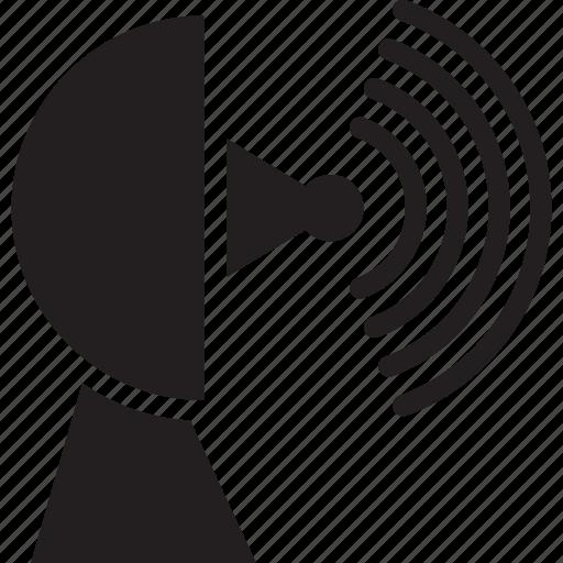 connection, dish, network, satellite, wireless icon