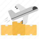 air freight, air logistics, air shipping, airbus, international freight icon