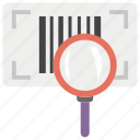 barcode reader, barcode scanner, barcode search, handheld scanner, optical scanning icon