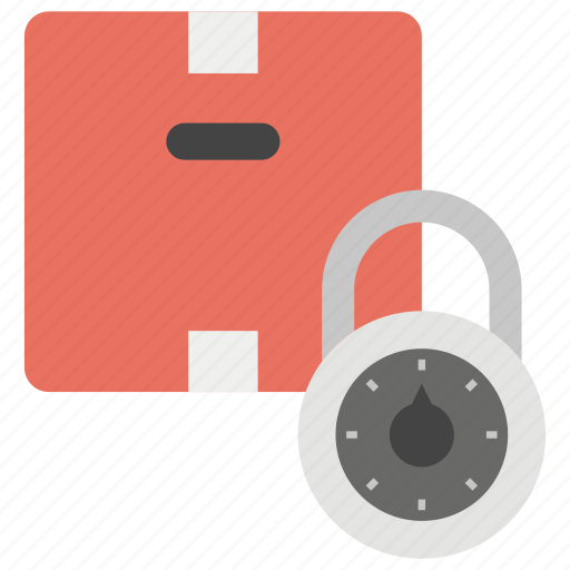 delivery protection, locked package, package protection, secured delivery icon