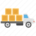 cargo delivery, courier services, fast delivery, logistic delivery, moving truck, packaging icon