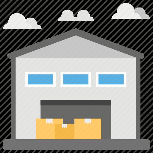 distributor warehouse, hangar, storage, storage house, vehicle hangar, warehouse icon