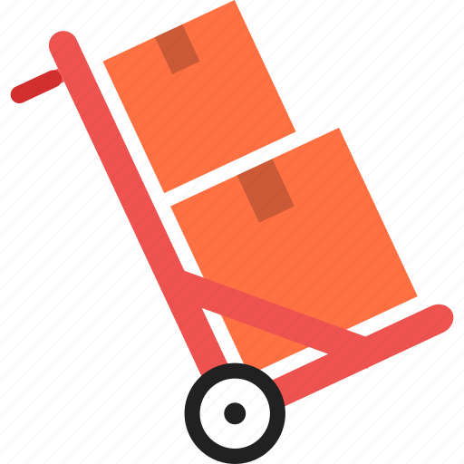 Cart, package, warehouse, delivery, goods, boxes, handle icon - Download on Iconfinder