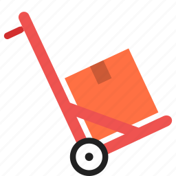 cart, delivery, goods, package, shopping, transportation, warehouse icon