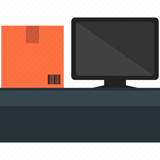Box, computer, delivery, desktop, transportation, cardboard, check stock icon - Download on Iconfinder