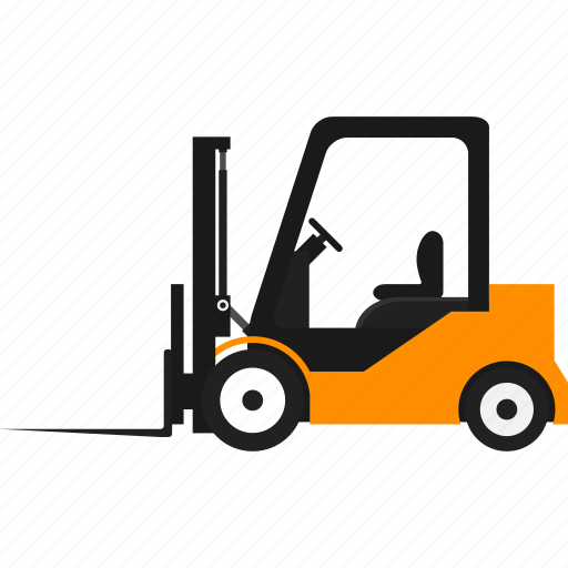 cargo truck, delivery, forklift, logistics, transportation, truck, warehouse icon