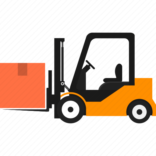 Delivery, transportation, goods, cargo truck, logistics, boxes, forklift icon - Download on Iconfinder
