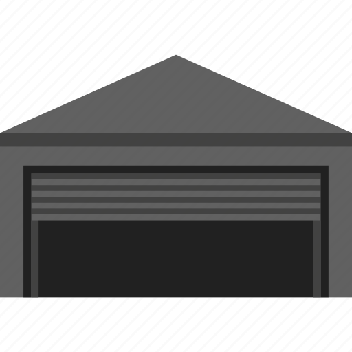 building, cargo, delivery, depot, godown, storage, warehouse icon